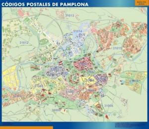 poster pamplona mapa códigos postales