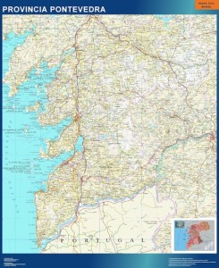 poster pontevedra mapa carreteras