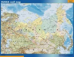 poster Rusia mapa mural