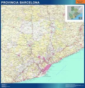 poster barcelona mapas carreteras