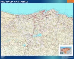 poster mapa cantabria carreteras