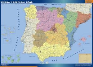 poster espana mapa autonomias