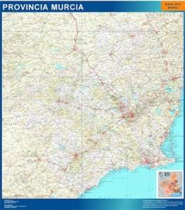 poster murcia mapa carreteras