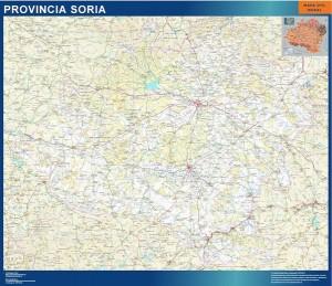 poster soria mapa carreteras