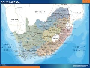 poster sudafrica mapa mural