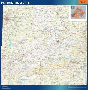poster mapa avila