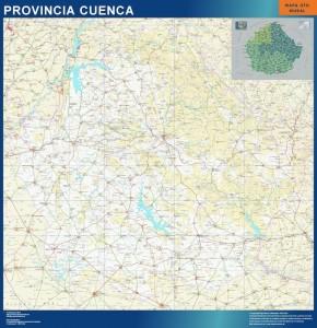 poster mapa provincia cuenca