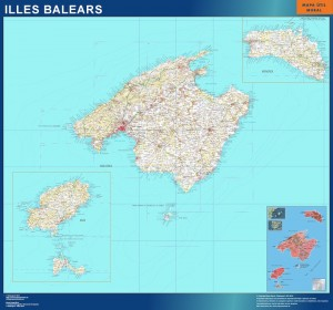 poster mapa provincia islas Baleares