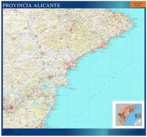 poster mapa provincia alicante