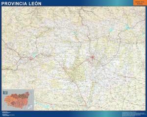poster Mapa Provincia Leon