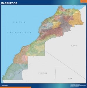 poster Mapa Mural Marruecos