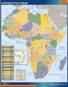 poster Mapa Africa Politico Mural