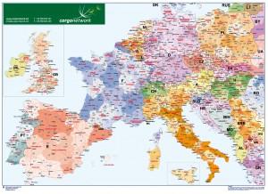 poster Europa Codigos Postales Sobremesa