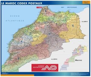 poster Maroc Codes Postaux