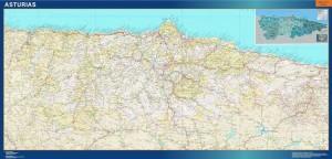 poster mapa provincia asturias