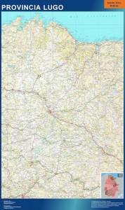 poster mapa provincia lugo