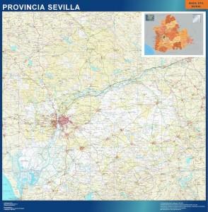 poster mapa provincia sevilla