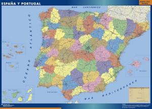 poster Mapa espana provincial grande