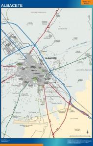poster mapa Albacete accesos