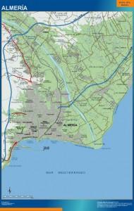 poster mapa Almeria accesos