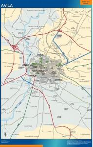 poster mapa Avila accesos