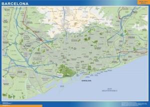 poster mapa Barcelona accesos