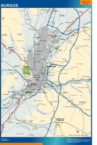 poster mapa Burgos accesos