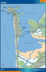 poster mapa Cadiz accesos