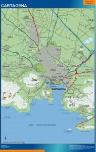 poster mapa Cartagena accesos