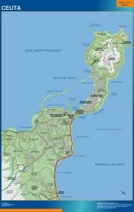 poster mapa Ceuta accesos