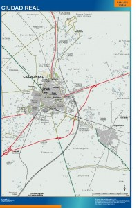 poster mapa Ciudad Real accesos