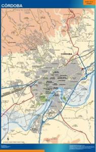 poster mapa Cordoba accesos