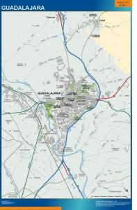 poster mapa Guadalajara accesos