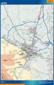 poster mapa Jaen accesos