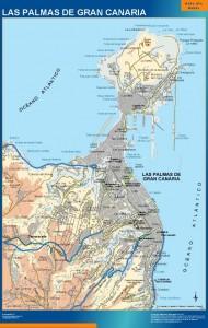 poster mapa Las Palmas accesos