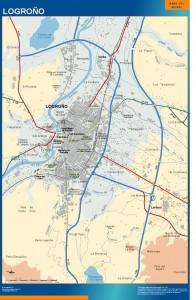 poster mapa Logrono accesos
