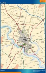 poster mapa Lugo accesos