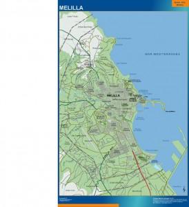 poster mapa Melilla accesos
