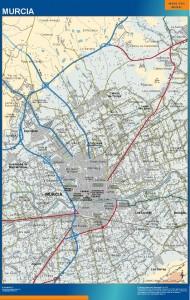 poster mapa Murcia accesos