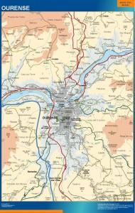 poster mapa Ourense accesos