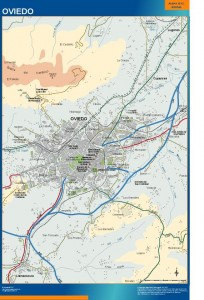 poster mapa Oviedo accesos