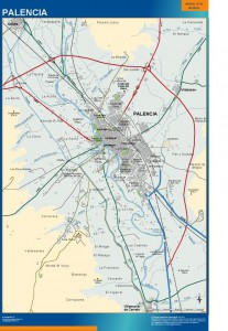 poster mapa Palencia accesos