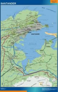 poster mapa Santander accesos
