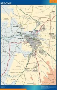 poster mapa Segovia accesos