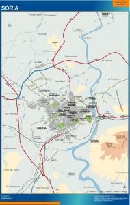 poster mapa Soria accesos