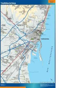 poster mapa Tarragona accesos