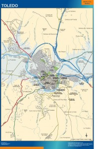 poster mapa Toledo accesos