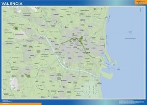 poster mapa Valencia accesos