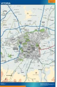 poster mapa Vitoria accesos Gasteiz