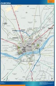 poster mapa Zamora accesos